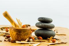 tea of traditional chinese medicine - stock photo