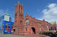 palmerston north - new zealand - all saints anglican church - stock photo