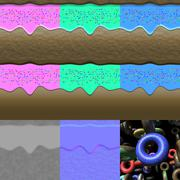 Stock Illustration of donuts generated textures with diffuse, bump and normal