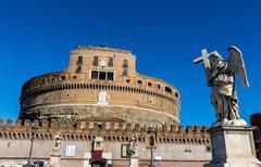 Italy, rome, castel sant angelo Stock Photos