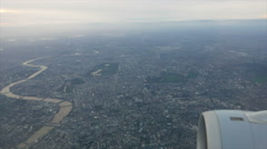 Aerial view plane flying over central london and thames  hd Stock Footage
