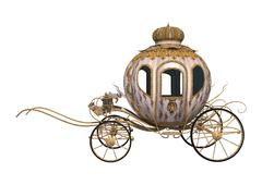 cinderella carriage - stock illustration