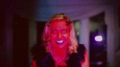 Devil woman old film Stock Footage