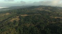 Aerial Oregon USA crops building vegetation business - stock footage