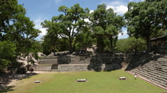 Ball court in Copan Stock Footage