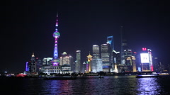 china Shanghai Pudong skyline - stock footage