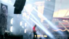 A spider in a heavy metal concert Stock Footage