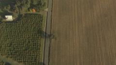 Aerials Oregon USA Farming crops agricultural Landscape - stock footage