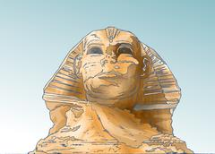 SPHINX HEAD Stock Illustration