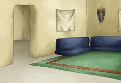 MAKKAH-interior room - stock illustration