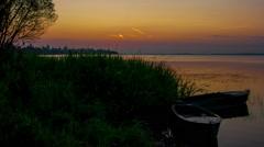 Sunrise over Nero's lake in Rostov, Russia, timelapse Stock Footage