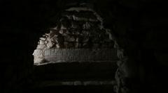 Tunnel at Maya site, Copan Honduras. Stock Footage