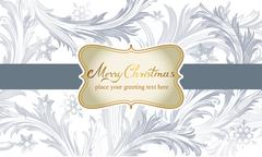 Vector Christmas background with for your text - stock illustration