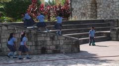 School children in uniform in Copan, Honduras. Stock Footage