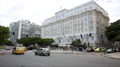 The famous Copacabana Palace Hotel in Rio de Janeiro, Brazil Stock Footage