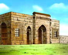 OLD BUILDING - stock illustration