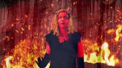 Hyptnotised hyptnotized devil woman demon Stock Footage