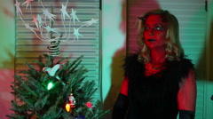 Krampus christmas gift 2 Stock Footage