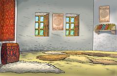 SUFI TEMPLE INSIDE - stock illustration