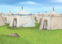 Stock Illustration of TENT of soldiers