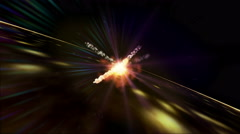 explosions in space 4k - stock footage