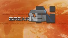 Breaking News 4K Animation - Text Flies in - Orange Stock Footage