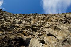 Asbyrgi rock wall Stock Photos