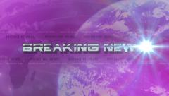 Breaking News 4K Animation - Lens Flare Reveals Text - Pink Purple Stock Footage
