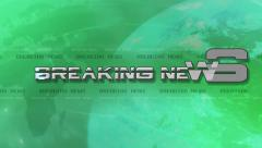 Breaking News 4K Animation - Text Flies in - Green Stock Footage
