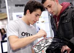 World champion motocycle racer Marc Marquez - stock photo