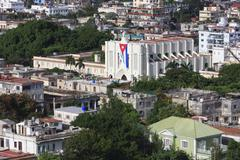 Architecture in Vedado district. View from the top. - stock photo