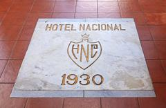 Inscription on the floor of the Hotel Nacional de Cuba. Stock Photos