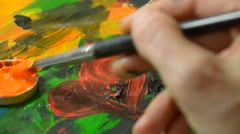 Drawing heart with a brush Stock Footage