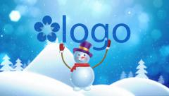 Snowman Brings Logo - stock after effects