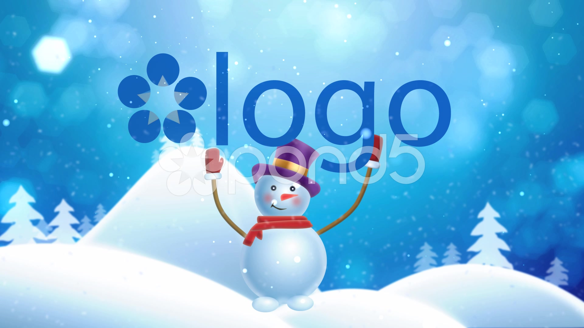 After Effects Project - Pond5 Snowman Brings Logo 45166045