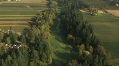 Aerial America Oregon crops farm valley industry planting Stock Footage
