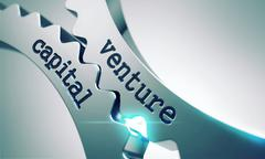 Venture Capital Concept on the Gears. - stock illustration