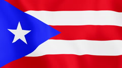 Loopable: Flag of Puerto Rico - stock footage