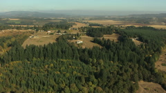 Stock Video Footage of Aerial America Oregon crops farm valley industry planting