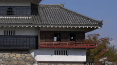 Matsumoto Castle Moon Viewing Room Zoom Out Stock Footage