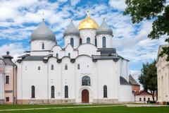Saint sophia cathedral at novgorod kremlin Stock Photos