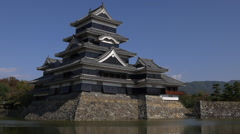 Matsumoto Castle in Nagano, Japan - stock footage