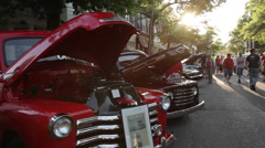 An antique car show in Queens (2 of 2) Stock Footage