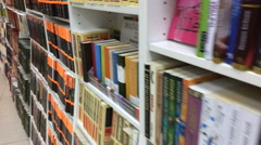 Bookstore in Moscow Stock Footage