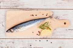delicious fresh mackerel fish. - stock photo