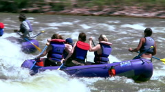Colorado River Rafters Near Moab Utah Stock Footage
