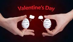 Happy smiley faces on valentines day theme Stock Photos