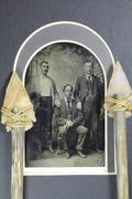TINTYPES, stone arrowheads Stock Photos