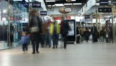 Timelapse, People Shopping In The Mall, Defocused Stock Footage