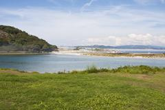 cies natural park islands, galicia, spain - stock photo